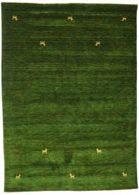 Gabbeh Loom Two Lines - Groen Vloerkleed 160X230 Modern Donkergroen (Wol, India)