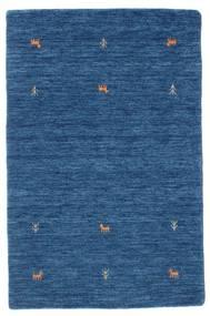 Gabbeh Loom Two Lines - Blauw Vloerkleed 100X160 Modern Donkerblauw/Blauw (Wol, India)