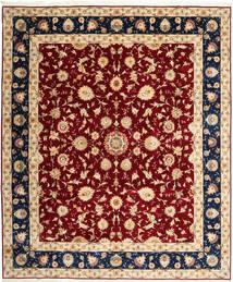 Tabriz 50 Raj Vloerkleed 250X298 Echt Oosters Handgeknoopt Beige/Donkerrood Groot (Wol/Zijde, Perzië/Iran)
