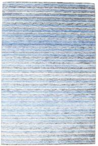 Bamboe Zijde Handloom Vloerkleed 202X304 Echt Modern Handgeknoopt Lichtblauw/Beige ( India)