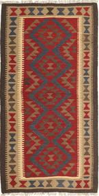 Kelim Maimane Vloerkleed 103X197 Echt Oosters Handgeweven Donkergrijs/Donkerrood (Wol, Afghanistan)
