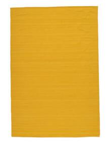 Kelim Loom - Geel Vloerkleed 200X300 Echt Modern Handgeweven Oranje (Wol, India)