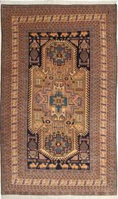 Ardebil Vloerkleed 162X264 Echt Oosters Handgeknoopt Donkerrood/Lichtbruin (Wol, Perzië/Iran)