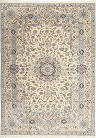 Nain 6La Habibian Vloerkleed 242X348 Echt Oosters Handgeknoopt Lichtgrijs/Beige (Wol/Zijde, Perzië/Iran)