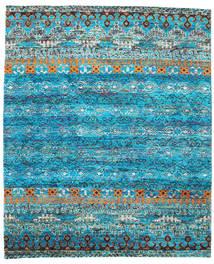 Quito - Turkoois Vloerkleed 240X290 Echt Modern Handgeknoopt Turquoise Blauw/Blauw (Zijde, India)