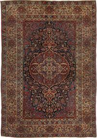 Isfahan Antiek Vloerkleed 147X215 Echt Oosters Handgeknoopt Donkerrood/Donkerbruin (Wol, Perzië/Iran)