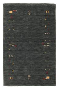Gabbeh Loom Frame - Donkergrijs/Groen Vloerkleed 100X160 Modern Donkergroen (Wol, India)