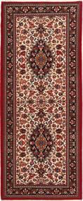 Ghom Sherkat Farsh Vloerkleed 84X205 Echt Oosters Handgeknoopt Tapijtloper Donkerrood/Donkerbruin (Wol, Perzië/Iran)