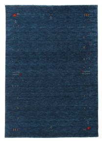 Gabbeh Loom Frame - Donkerblauw Vloerkleed 160X230 Modern Donkerblauw (Wol, India)
