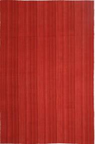 Kelim Moderne Vloerkleed 202X307 Echt Modern Handgeweven Roestkleur (Wol, Perzië/Iran)