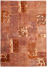 Patchwork Vloerkleed 166X243 Echt Modern Handgeknoopt Rood/Donkerrood (Wol, Perzië/Iran)