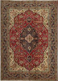 Tabriz Patina Vloerkleed 248X345 Echt Oosters Handgeknoopt Donkerbruin/Donkerrood (Wol, Perzië/Iran)