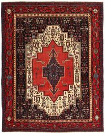 Senneh Patina Vloerkleed 120X155 Echt Oosters Handgeknoopt Donkerrood/Donkerbruin (Wol, Perzië/Iran)
