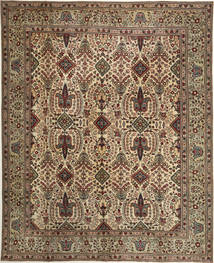 Tabriz Patina Vloerkleed 305X377 Echt Oosters Handgeknoopt Bruin/Lichtbruin Groot (Wol, Perzië/Iran)