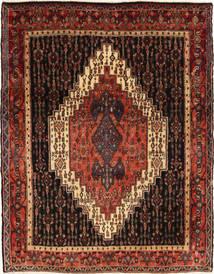 Senneh Vloerkleed 122X163 Echt Oosters Handgeknoopt Donkerbruin/Donkerrood (Wol, Perzië/Iran)