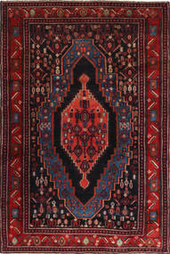 Senneh Vloerkleed 120X190 Echt Oosters Handgeknoopt Donkerrood (Wol, Perzië/Iran)