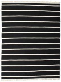 Dorri Stripe - Zwart/Wit Vloerkleed 200X250 Echt Modern Handgeweven Zwart (Wol, India)