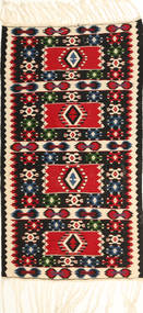 Kelim Fars Vloerkleed 95X183 Echt Oosters Handgeweven Beige/Zwart (Wol, Perzië/Iran)