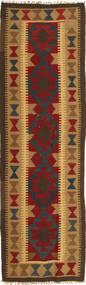 Kelim Maimane Vloerkleed 58X196 Echt Oosters Handgeweven Tapijtloper Lichtbruin/Donkergrijs (Wol, Afghanistan)