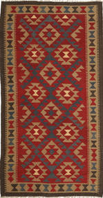 Kelim Maimane Vloerkleed 103X196 Echt Oosters Handgeweven Roestkleur/Lichtbruin (Wol, Afghanistan)