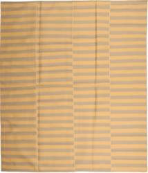 Kelim Moderne Vloerkleed 230X270 Echt Modern Handgeweven Donkerbeige/Lichtbruin (Wol, Perzië/Iran)