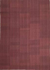 Kelim Moderne Vloerkleed 212X295 Echt Modern Handgeweven Donkerpaars/Purper (Wol, Perzië/Iran)