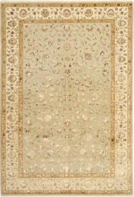 Tabriz Royal Magic Vloerkleed 197X294 Echt Oosters Handgeknoopt Beige/Donkerbeige/Lichtbruin ( India)