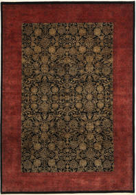 Tabriz Royal Magic Vloerkleed 202X292 Echt Oosters Handgeknoopt Donkerbruin/Donkerrood ( India)