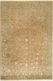 Tabriz Royal Magic Vloerkleed 200X304 Echt Oosters Handgeknoopt Lichtbruin/Donkerbeige ( India)