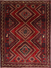 Shiraz Vloerkleed 235X310 Echt Oosters Handgeknoopt Donkerrood/Donkerbruin (Wol, Perzië/Iran)