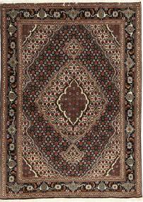 Tabriz 40 Raj Vloerkleed 107X149 Echt Oosters Handgeknoopt Donkerrood/Donkerbruin (Wol/Zijde, Perzië/Iran)