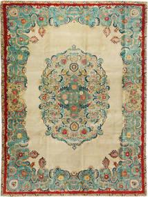 Tabriz Patina Vloerkleed 300X400 Echt Oosters Handgeknoopt Donkerbeige/Pastel Groen Groot (Wol, Perzië/Iran)