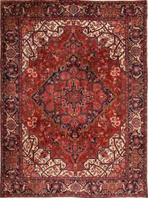 Heriz Vloerkleed 273X370 Echt Oosters Handgeknoopt Donkerrood/Zwart Groot (Wol, Perzië/Iran)