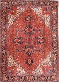 Heriz Vloerkleed 293X406 Echt Oosters Handgeknoopt Donkerrood/Roestkleur Groot (Wol, Perzië/Iran)