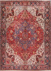 Heriz Vloerkleed 298X414 Echt Oosters Handgeknoopt Donkerrood/Bruin Groot (Wol, Perzië/Iran)