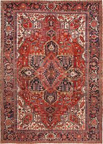 Heriz Vloerkleed 288X403 Echt Oosters Handgeknoopt Donkerrood/Roestkleur Groot (Wol, Perzië/Iran)