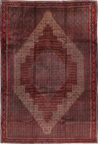 Senneh Vloerkleed 255X380 Echt Oosters Handgeknoopt Donkerrood Groot (Wol, Perzië/Iran)