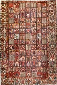Bakhtiar Vloerkleed 374X570 Echt Oosters Handgeknoopt Donkerbruin/Donkerrood Groot (Wol, Perzië/Iran)
