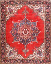 Heriz Vloerkleed 300X385 Echt Oosters Handgeknoopt Roestkleur/Donkerrood Groot (Wol, Perzië/Iran)