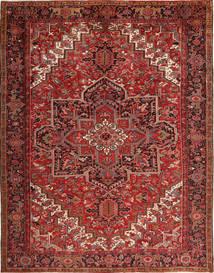 Heriz Vloerkleed 293X380 Echt Oosters Handgeknoopt Donkerrood/Donkerbruin Groot (Wol, Perzië/Iran)