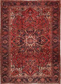 Heriz Vloerkleed 262X358 Echt Oosters Handgeknoopt Donkerrood/Donkerbruin Groot (Wol, Perzië/Iran)