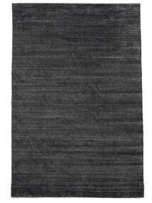 Bamboe Zijde Loom - Houtskool Vloerkleed 200X300 Modern Zwart/Purper/Donkergrijs ( India)