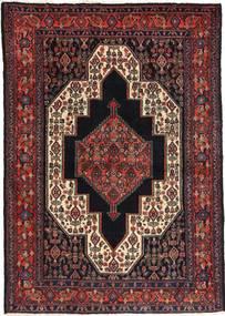 Senneh Vloerkleed 115X163 Echt Oosters Handgeknoopt Zwart/Donkerbruin/Donkerrood (Wol, Perzië/Iran)