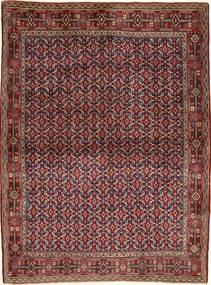 Senneh Vloerkleed 121X166 Echt Oosters Handgeknoopt Donkerrood/Bruin (Wol, Perzië/Iran)