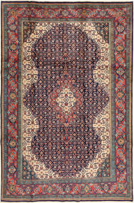 Sarough Vloerkleed 200X305 Echt Oosters Handgeknoopt Donkergrijs/Donkerrood (Wol, Perzië/Iran)
