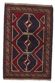 Beluch Vloerkleed 86X132 Echt Oosters Handgeknoopt Donkerbruin/Donkerrood (Wol, Afghanistan)