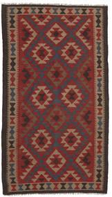 Kelim Maimane Vloerkleed 107X197 Echt Oosters Handgeweven Donkerrood/Donkerbruin (Wol, Afghanistan)