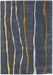 Flaws Handtufted - Grijs Vloerkleed 140X200 Modern Donkergrijs/Donkerblauw (Wol, India)