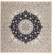 Nain 6La Habibian Vloerkleed 257X260 Echt Oosters Handgeknoopt Vierkant Lichtgrijs/Donkergrijs Groot (Wol/Zijde, Perzië/Iran)