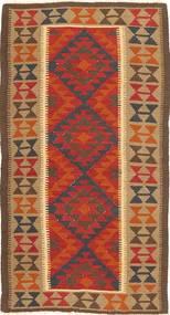 Kelim Maimane Vloerkleed 101X193 Echt Oosters Handgeweven Bruin/Roestkleur (Wol, Afghanistan)